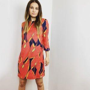 Zara Red Floral Shift Dress